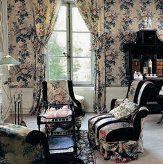Madeleine Castaing chintz sitting room