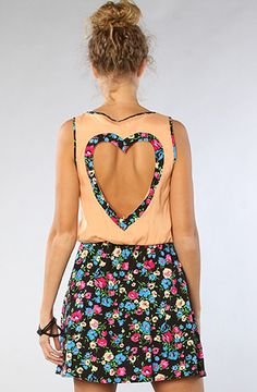 Reverse  The Heart Back Dress in Floral  The heart cutout is adorable!