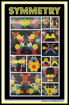 Fine Motor Friday, Chapter 44 Parquetry Blocks, Design + Symmetry at RainbowsWithinReach. Art meets MATH!