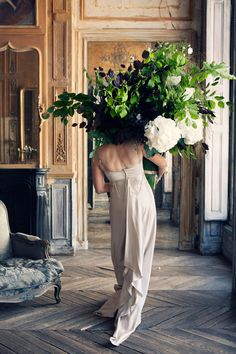 Flower arranging...