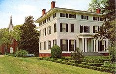 Boxwood Mansion of Madison GA; somewhere on this board I've also got an original plan of the gardens at Boxwood