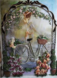 embroideri silk, ribbon art, silk ribbon, hand embroderi, broderi ruban, bordado cn, beauti bicycl, ribbon flower, diy silk
