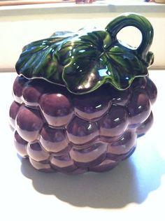 California Pottery Grape Cookie Jar
