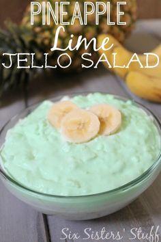 pineapple lime jello, lime jello salad, jello salads, pineapple jello salad, pineappl lime