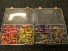 sort bulk crayons by colour