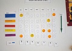 Behavior chart for kids - think I'm going to switch from my current simple star method to this behavior based method. I think I'll stick with picking prizes out of a prize box instead of giving money though... **UPDATE 2/21/12: Made a new version of our star board with magnetic stars & the system is now based on behaviors. Works really well to enforce specific behavior!