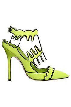 Manolo Blahnik Green Stiletto Sandal Spring Summer 2012 #Manolos #Shoes #Heels