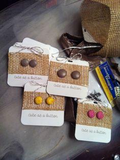 DIY Button Earrings!