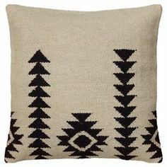 Jute, wool, and cotton pillow #pillowcushion