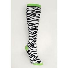 Black & White Zebra Coolmax Tall Socks