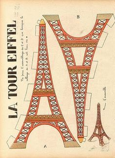 Eiffel Tower - will use for reading Madeline/FIAR