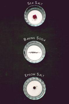 DIY: sea salt detox bath