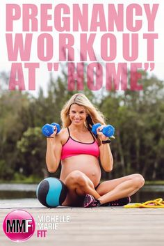Pregnancy Workout you can do at home.  These #Pregnancy #Workouts will help prevent EXCESS WEIGHT gain, increase ENERGY and lose weight FAST #postpartum.