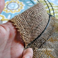 Burlap Wreath Tutorial. This would be good with different color wide ribbons too.