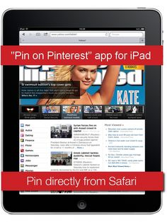 How to pin from ipad