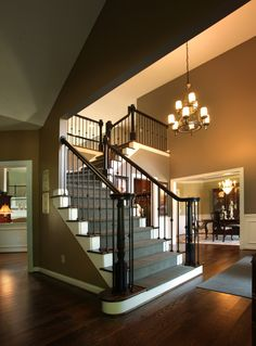 Staircase on pinterest wrought iron staircases and stairs for Angela bonfante kitchen designs