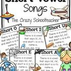 Fun songs to reinforce short vowels sounds!...
