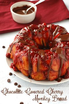 Chocolate Covered Cherry Monkey Bread Recipe