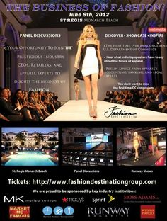 THE BIGGEST EVENTS IN OC! BROUGHT TO YOU BY MARKET ME FAMOUS - FDG - RUNWAY MAGAZINE @THE ST REGIS RESORT AND SPA MONARCH BEACH, JUNE 9TH.  http://www.MarketMeFamous.com  http://www.FashionDestinationGroup.com  http://www.RunwayMagazine.co