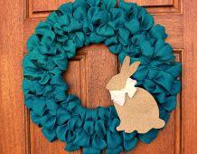 Burlap Ribbon Easter Wreath - Uncommon Designs |