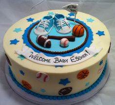 All Star Boy Baby Shower cake