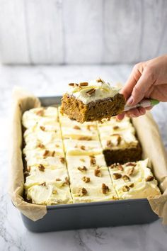 Dairy and gluten-free carrrot traybake