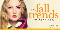 5 Fall Trends to Wear Now
