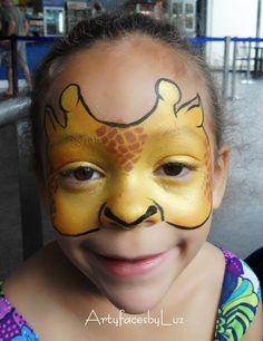 DIY Giraffe Face Paint #DIY #FacePainting #Halloween #Costumes #HalloweenCostume #Birthdays #Birthday #Party #Parties #Giraffes