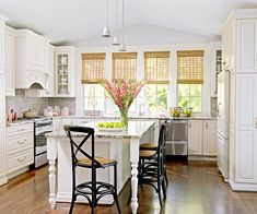 Cottage Kitchen Design Ideas (slideshow) @Gayle Roberts Merry Homes and Gardens   Timeless Materials Add Vintage Appeal...
