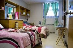 cute dorm layout