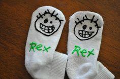 Homemade Gripper Socks