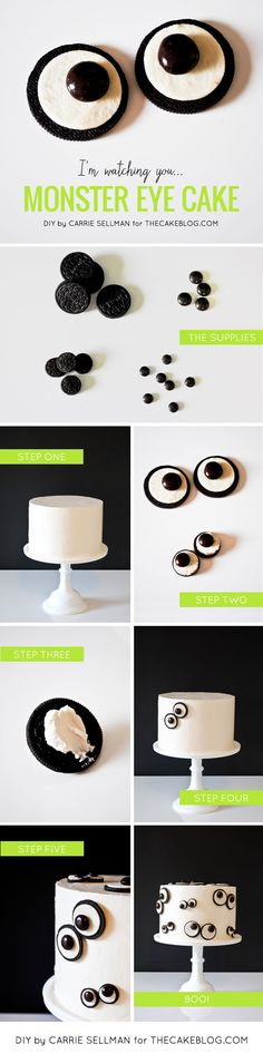 DIY Monster Eye Cake  | by Carrie Sellman  |  TheCakeBlog.com #cake #halloween