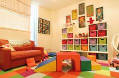 great playroom - love the storage