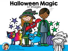 Halloween Magic Clip Art from Lindy du Plessis on TeachersNotebook.com -  (57 pages)  - Happy Halloween! This is a magical Halloween set, filled with witches, wizards and magical animals!
