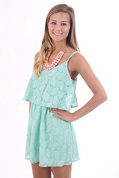 Sweet Summertime Dress, mint $47 www.themintjulepboutique.com
