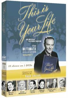 This Is Your Life is an American television documentary series broadcast on NBC, originally hosted by its producer, Ralph Edwards from 1952 to 1961. In the show, the host surprises a guest, and proceeds to take them through their life in front of an audience including friends and family.     Edwards revived the show in 1971-72