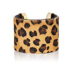 Leopard print pony hair cuff bracelet #riverisland