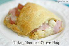 Turkey, ham and cheese Ring from beautyandbedlam.com