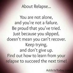 #relapse can strengthen #recovery