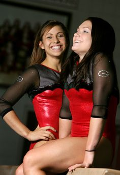 The two Courtneys - Courtney Kupets and Courtney Mcool. :)