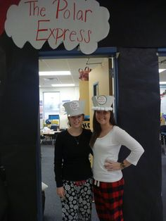 Polar Express Day--the teachers become the conductor. Looks like fun!