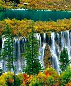 Nuorilang Waterfall, Jiuzhai Valley National Park, China