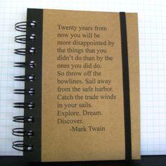Mark Twain Quote Journal Notebook Handmade by Zany by zany on Etsy, $15.00