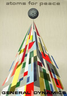 Erik Nitsche Poster: General Dynamics - Atoms for Peace