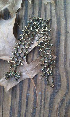 Delica Bead Net Stitch Bracelet