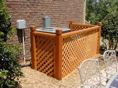 diy garbage can enclosure | diy hiding trash cans | ... can be used to hide A/C units as well as ...