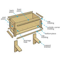 How to build a PVC window box  tailored to the width of your window and with molding that matches your home's style. | Illustration: Gregory Nemec | thisoldhouse.com