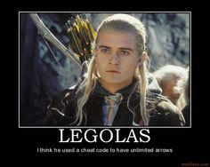 Legolas......used a cheat code?!
