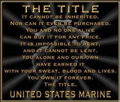 USMC The Title