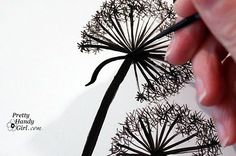 graphic, diy wall drawing, paint dandelion, drawing tutorial ideas, journal pages, wall murals, art, yellow cakes, paintings